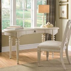A.R.T. Provenance Writing Desk in Distressed Ivory
