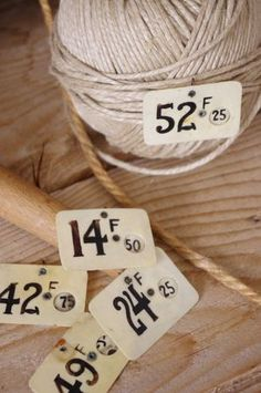 """Sur 1 air de brocante"" - French brocante online store... I want everything!! vintag price, twine, letter, string, vintage number 1, price tags, french vintage, vintage finds"