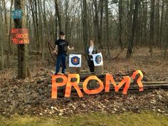 For the hunting fanatic.  Great prom ask!