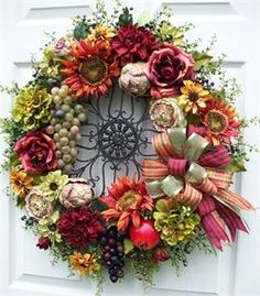 Summer in Tuscany Wreath http://timelessfloralcreations.com/