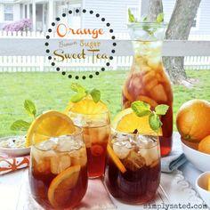 Orange Brown-Sugar Sweet Tea - www.simplysated.com