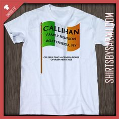 Irish Flag Family Reunion Shirt : Custom Family Reunion Shirts - Shirts By Sarah - Custom Printed T-shirts