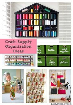 Organizing Craft Supplies–Fresh Ideas to Inspire! - EverythingEtsy.com #organize #diy #craft