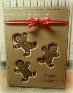scentsat season, christmas cards, christma card, stamp, gingerbread men
