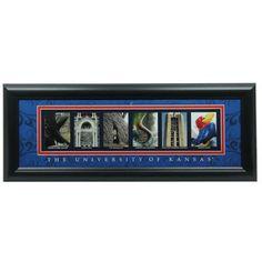 Kansas Jayhawks 8'' x 20'' Framed Letter Art #Fanatics
