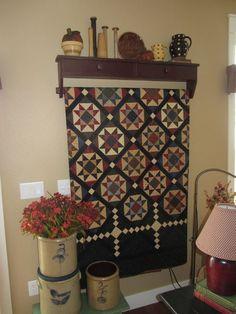 Beautiful quilt & rack
