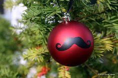 mustache ornaments...