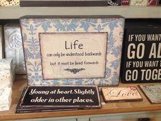 Life backwards & for