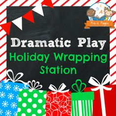 Dramatic Play Holiday Wrapping Station Printable Kit