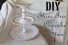 DIY Cupcake Stand with Three Tiers