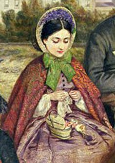 C. 1860s detail from: A Victorian Family at the Seaside by Charles Wynne Nicholls