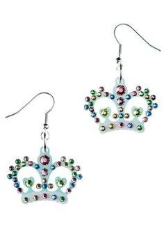 Tatty Devine crown drop earrings, £54