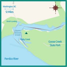 paddling map of Goos