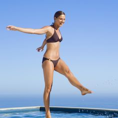 Escape the Heat With This Full-Body Pool Workout (No Swimming Required!)    Fitness Tips for Beginners  www.fitsugar.com/...
