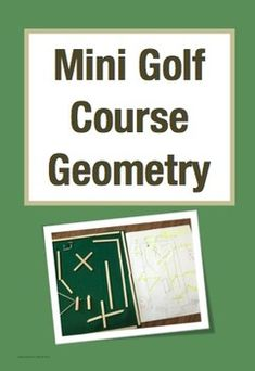 model mini, math project, student gift from teacher, students love, mini golf course, student design