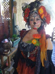 Wonderful costume interpretation of the Day of the Dead.
