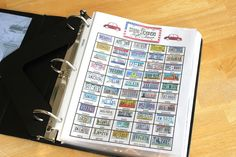 road trip binder for kids (with links to printables)
