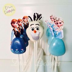 Frozen Themed Cake Pops