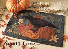 In the Pumpkin Patch Hooked Rug designed by Renee Nanneman