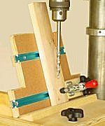 Drill press based pocket hole jig.  Free plans.