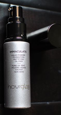 Hourglass Cosmetics Immaculate Liquid to Powder foundation is a MUST for oily skin, plus it fights acne!