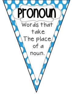 Parts of Speech {Pennant Banners!}