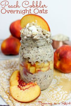 Healthy Peach Cobble