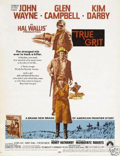 True grit John Wayne vintage movie poster
