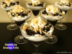Almond Joy Brownie Trifle | A Sweet Baker