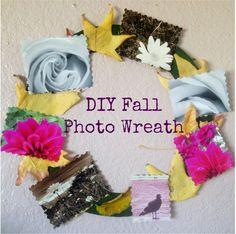 Create a Pretty Fall Photo Wreath For Under $10 (via The Kicksend Blog!)