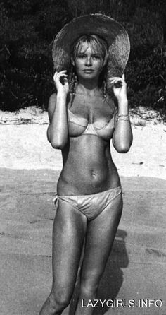 It was Brigitte Bardot who exploded the bikini to a dribbling world populace in 1958. This is one of the earliest bikini shots
