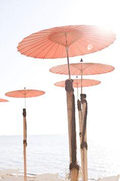 Sun umbrellas.