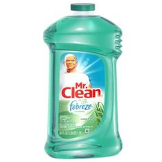 Mr. Clean w/Febreeze is what I put 1/4 cup in with water and steam mop my floors with!