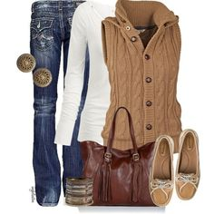 I have never seen a more perfect outfit for fall!! I need this outfit. But with boots :) these shoes are a no go! Lol - Click image to find more womens fashion Pinterest pins
