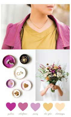 Color Palette: Wildflower and Old Gold from @cydconverse