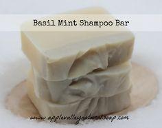 basil mint shampoo bar