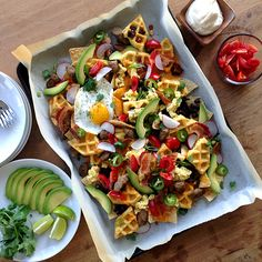 Breakfast Waffle Nachos from The Delicious Life
