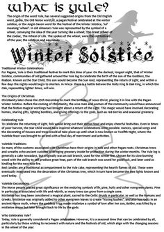 Winter Solstice:  What Is Yule?