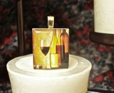 Scrabble tile pendants, great for jewelry or wine charms - Mango and Lime Design