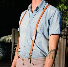 Tan Leather Suspenders by headcleaner on Etsy, $60.00