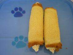 Cannoli dog treats - quick and easy make them yourself!