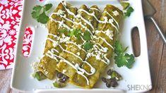 Avocado and black bean enchiladas #MeatlessMonday