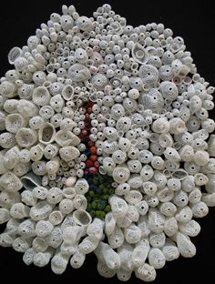 Textile Art by Carla Tilghman, Minority, 2008, silk and stainless steel