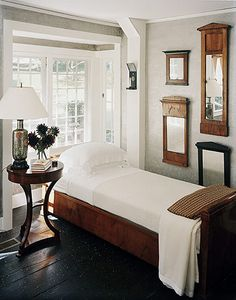 white and wood rustic traditional bedroom
