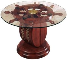 Ships Wheel Pulley Table ❤️