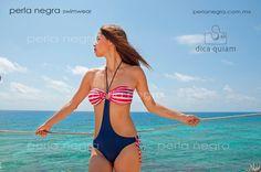 Traje de baño trikini (marinero) / Trikini swimsuit (sailor) | Checa nuestros modelos en www.perlanegra.com.mx