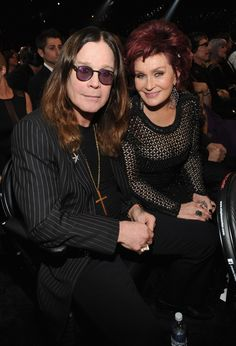 Sharon and Ozzy Osbourne at the 56th Annual GRAMMY Awards on Jan. 26 in Los Angeles