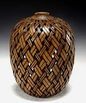 "Mesquite. Wood turned ""basket"""