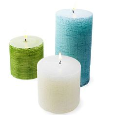 If you want a specific candle color you can't find, you can easily buy plain white candles and spray paint the sides to achieve your desired color. #DIY
