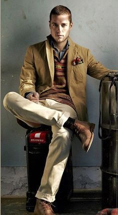 Almost perfect travel suit, men style, guy style, men fashion, brown boots, style guides, khaki pant